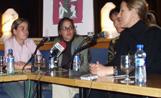 Les protagonistes d''El Cim' van participar en una tertúlia al Cafè Auditori organitzada per l'Ajuntament per celebrar el Dia de la Dona Treballadora
