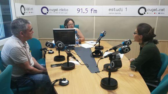 D'esquerra a dreta, Manel Garriga, Carme Reverte i Anna Ibáñez