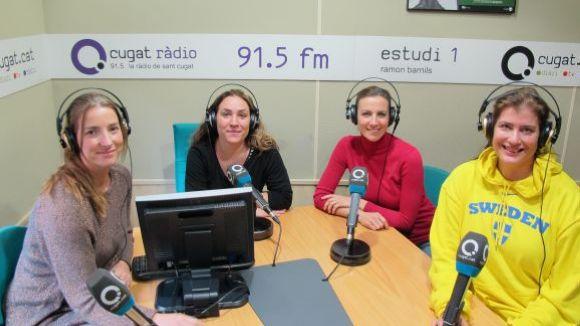 Patrícia de No, Jessica Sotodosos, Cristina Casale i Ana Häsler a l'Estudi 1 de Cugat.cat