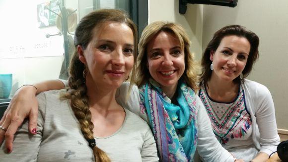 Patrícia de No, María García i Cristina Casale a l'estudi 2 de Cugat.cat