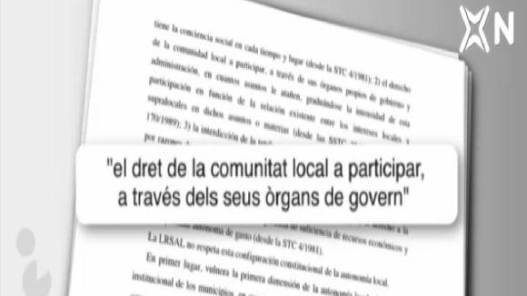 Els detalls del recurs d'inconstitucionalitat a la llei de règim local del PP