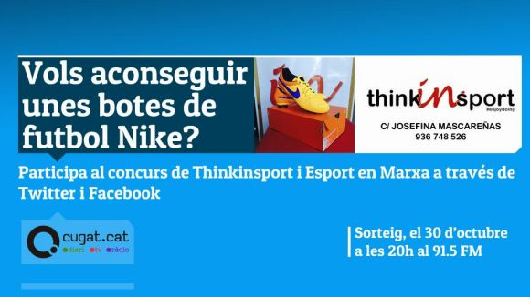 El programa 'Esport en Marxa' i la botiga Thinkinsport sortejaran un producte esportiu cada mes