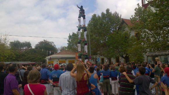La Festa Major de Valldoreix s'acomiada amb castellers, esport i paelles