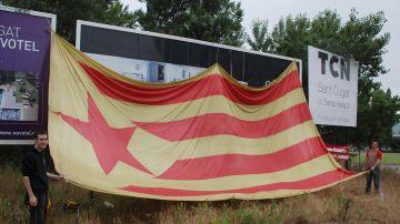 La JNC i les JERC aprofiten el Tour per reivindicar el reconeixement nacional de Catalunya