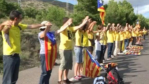 Sant Cugat, una baula més en l'èxit de la Via Catalana