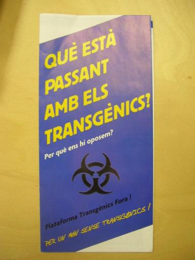 Annaïs Sastre: 'Els transgènics no aporten solucions a la pagesia ni a la salut'