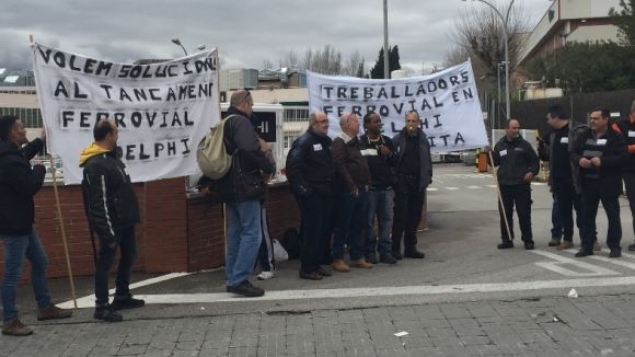 Preocupació dels treballadors de Ferrovial a Delphi pel seu futur a la planta de Sant Cugat