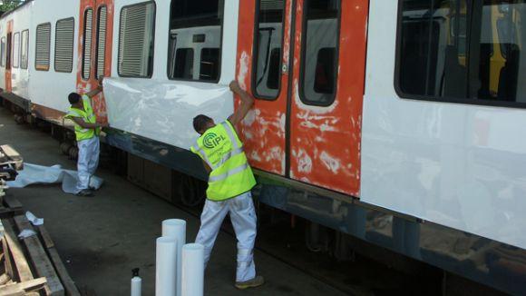 L'OCTF consensua una metodologia per valorar l'impacte dels grafitis als trens