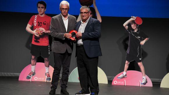 Arturo Trenzano, a la dreta, el director esportiu del Club Rugby Sant Cugat / Font: Localpress