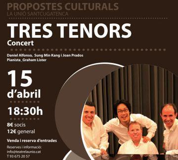 El Teatre la Unió homenatja amb un concert els Tres Tenors