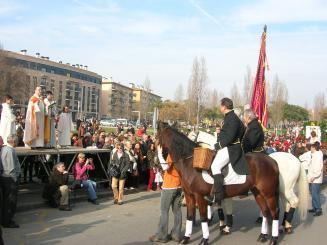 Els geganters seran els banderers de la rua de Sant Antoni d'enguany