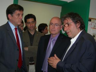 El conseller Tresserras inaugura el 'nou' estudi Ramon Barnils de Ràdio Sant Cugat