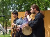 Els Ministrers de la Ciutat han portat instruments tradicionals com la xirimia o cornamusa.