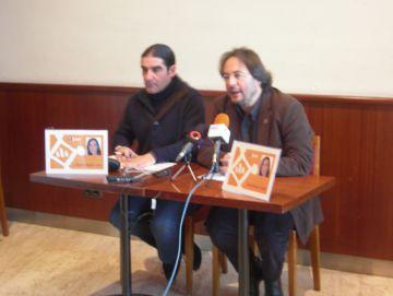 Tugues i Grangé durant la roda de premsa