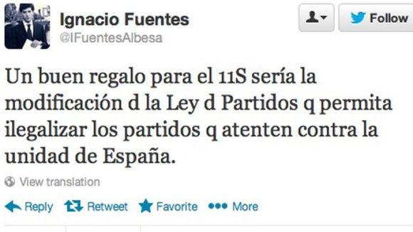 Bullen les xarxes per una petició de Fuentes (NNGG) per il·legalitzar partits independentistes