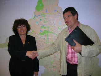 Turu i el candidat de CiU a Valldoreix, Josep Puig, en una foto d'arxiu