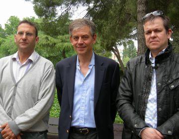 Vicenç Valls, Daniel Gambús i Toni Rabascall, en un moment de la presentació del programa mediambiental
