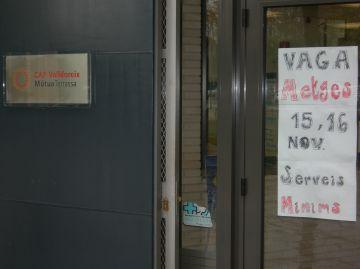 El segon dia de vaga de metges deixa la ciutat sense visites concertades