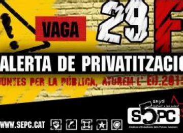 La CUP se suma a la convocatòria de vaga contra les retallades a les universitats