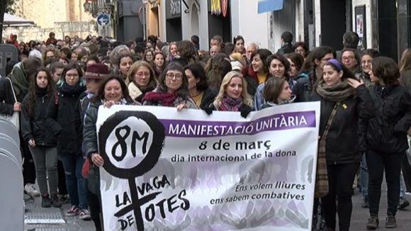 Sant Cugat surt més que mai al carrer per sumar-se a les reivindicacions feministes