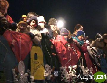 Mig miler de valldoreixencs reben els Reis Mags a la plaça de Mas Roig