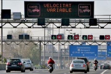 La velocitat variable comença a funcionar als accessos sud a Barcelona aquest dilluns
