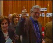 Moment en què Vergés va emetre el seu vot (cedida TV3)