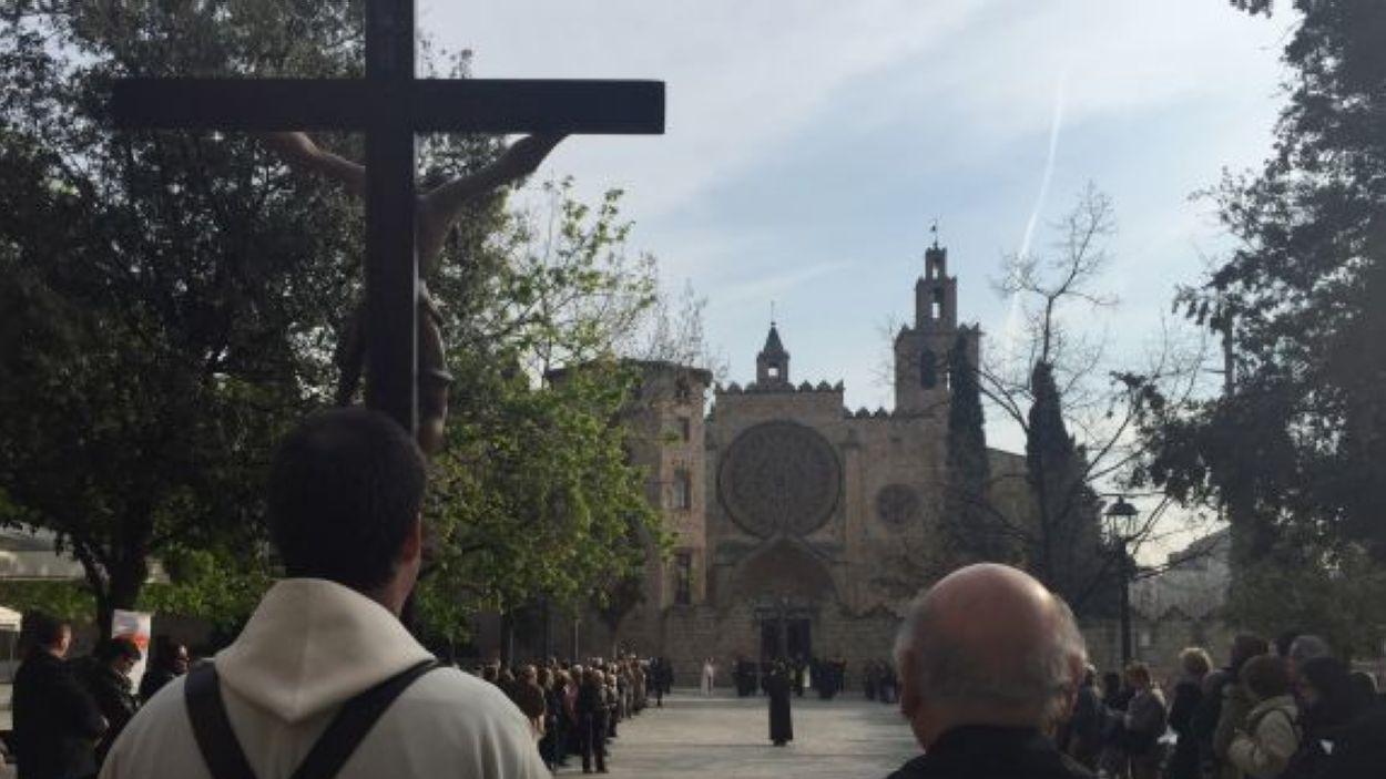 Imatge d'arxiu del Via Crucis a Sant Cugat / Foto: Cugat Mèdia