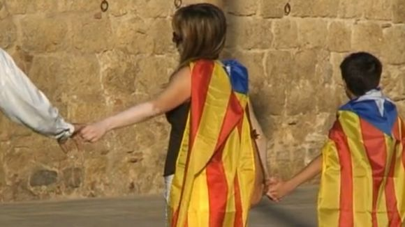 Omplerts ja 20 autocars de l'ANC de Sant Cugat per anar a la Via Catalana