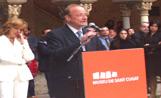 El conseller de Cultura, Jordi Vilajoana, a l'acte d'inauguració del Museu