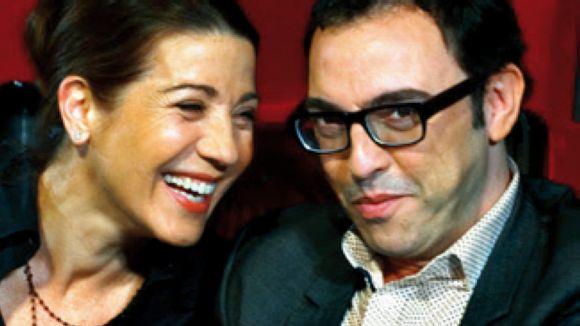 L'actriu santcugatenca Emma Vilarasau i el dramaturg Sergi Belbel
