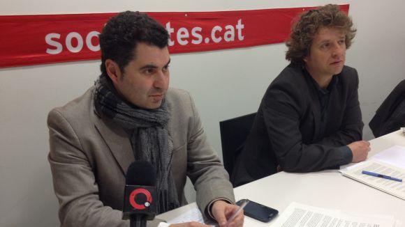 El portaveu del PSC, Ferran Villaseñor, i el regidor Pere Soler
