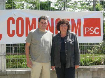 Ferran Villaseñor i Montserrat Turu en un acte a Valldoreix