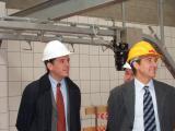L'alcalde acompanyat de l'equip de govern, els arquitectes i els veïns de St. Francesc han viistat les obres.