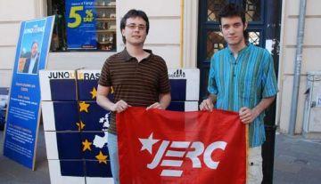 Visita del candidat de les JERC a les eleccions europees