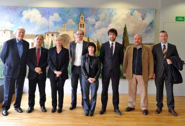 L'alcalde de la ciutat francesa on residia Grau-Garriga visita Sant Cugat