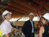 L'alcalde ha visitat avui les obres del PAV 3 i la resta d'instal·lacions esportives.