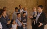 L'alcalde Recoder ha rebut al Monestir la delegació de visitants de Tàrrega