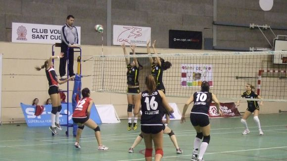 El Club Voleibol Sant Cugat estrena el play-off amb victòria a Lugo