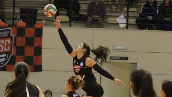 El Volei Sant Cugat, a punt per tancar la salvació davant la seva afició / Font: Voleibol Sant Cugat
