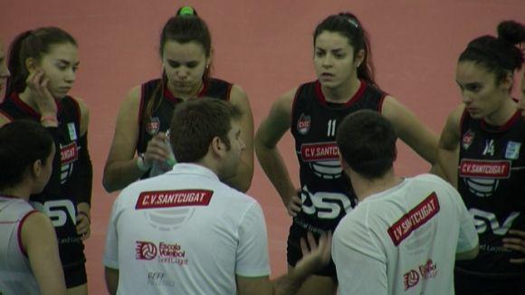 El DSV-Volei Sant Cugat perd la semifinal de la Copa de la Princesa davant el Torrelavega