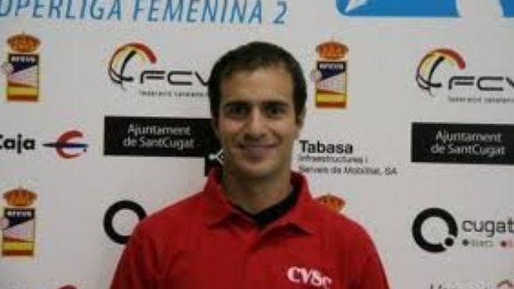 Leo Passerine és l'entrenador del juvenil del DSV-Club Voeibol Sant Cugat / Font: Rfevb.es