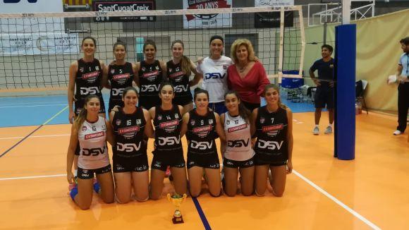 El DSV-Club Voleibol Sant Cugat, subcampió de la Lliga Catalana