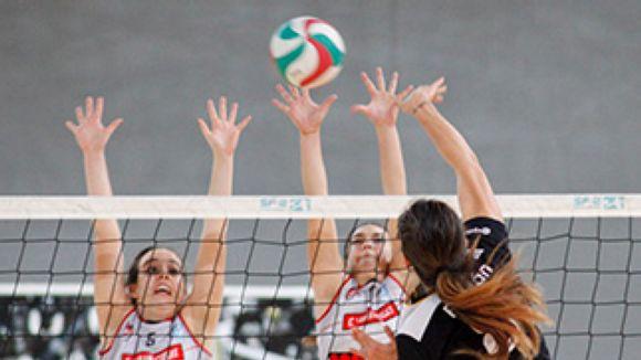 El Club Voleibol Sant Cugat ha començat la fase d'ascens a Superlliga amb derrota / Imatge d'arxiu