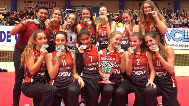 El DSV Club Voleibol Sant Cugat es proclama campió de la Copa d'Espanya infantil i cadet