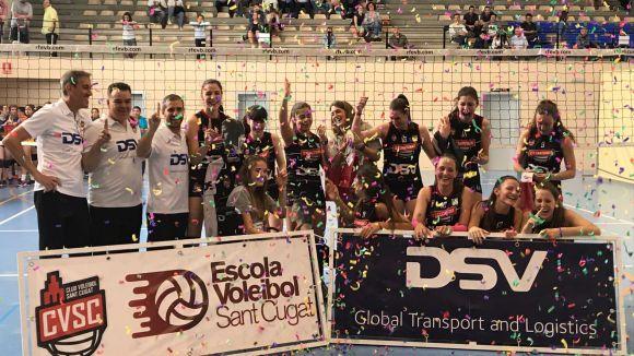 El juvenil del DSV-Volei Sant Cugat. campió de Catalunya / Font: Nuria Terribas
