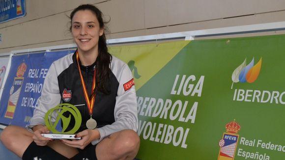 Aina Berbel marxa del DSV- Club Voleibol Sant Cugat / Font:Catvolei