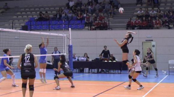 El Club Voleibol Sant Cugat s'exhibeix davant un fluix Tenerife Santa Cruz