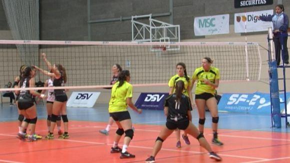 El DSV-Voleibol Sant Cugat guanya el Múrcia i té a les mans el passi per a la Copa de la Princesa