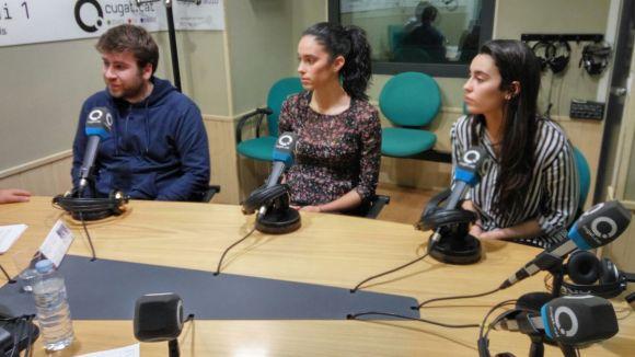 D'esquerra a dreta, Rafa Ruiz, Paula Garcia i Aitana Garcia